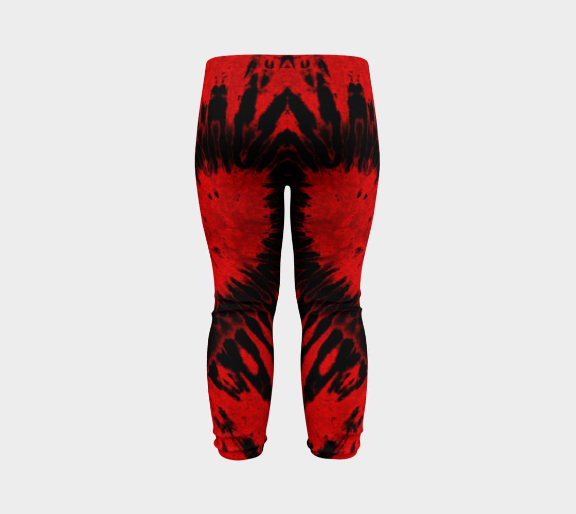 Red Black Heart Baby Leggings preview #7