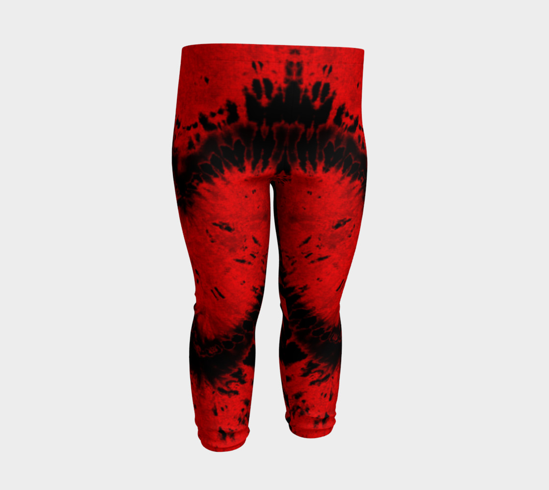 Red Black Heart Baby Leggings preview #3