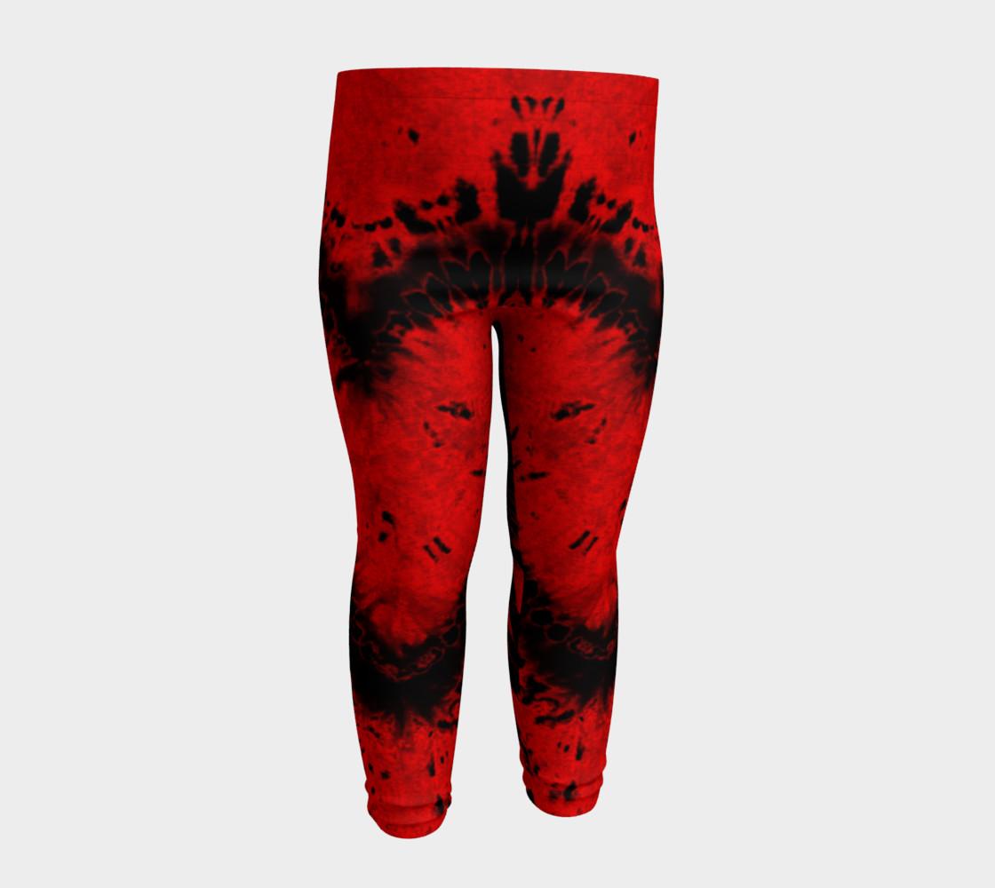 Red Black Heart Baby Leggings preview #4