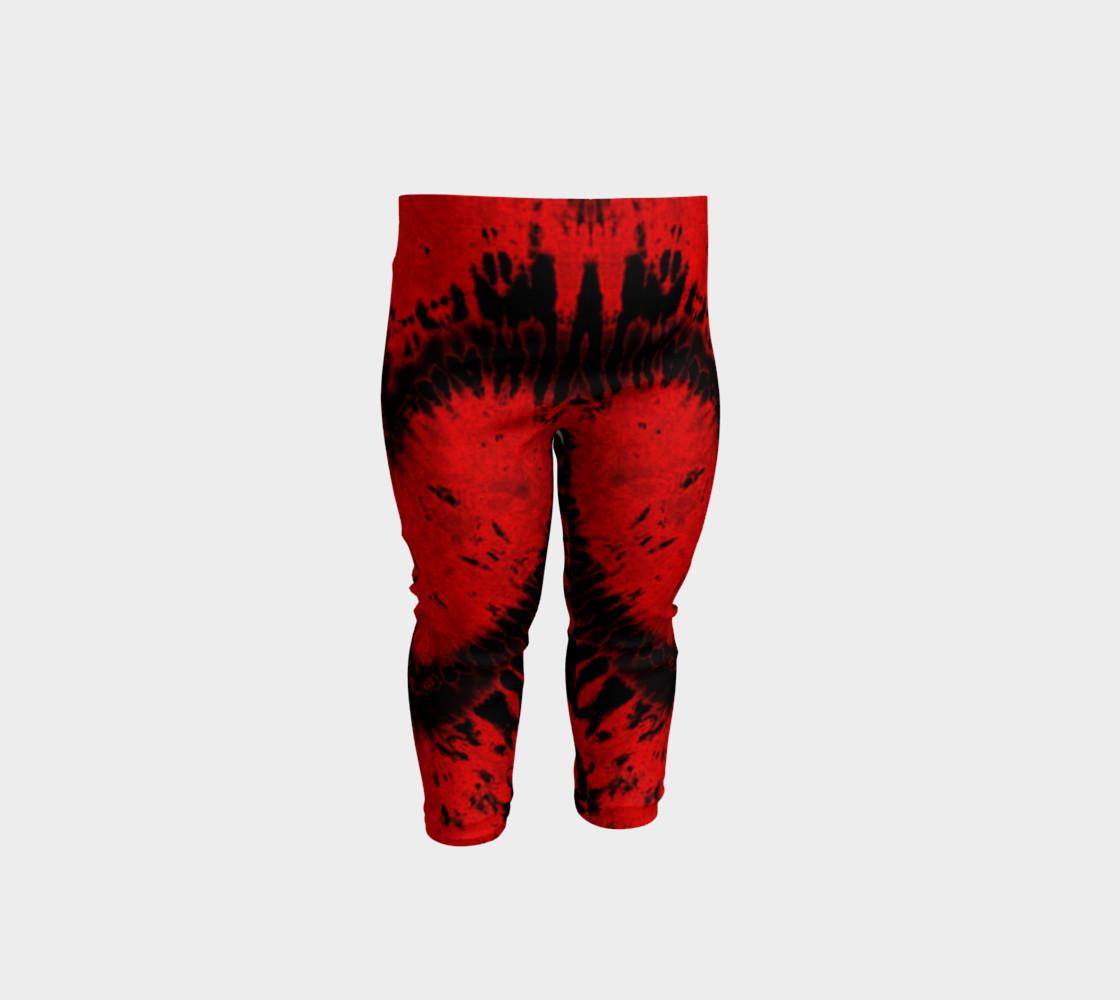 Red Black Heart Baby Leggings preview #1