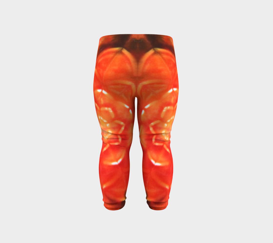 Orange Lotus Baby Leggings preview #6