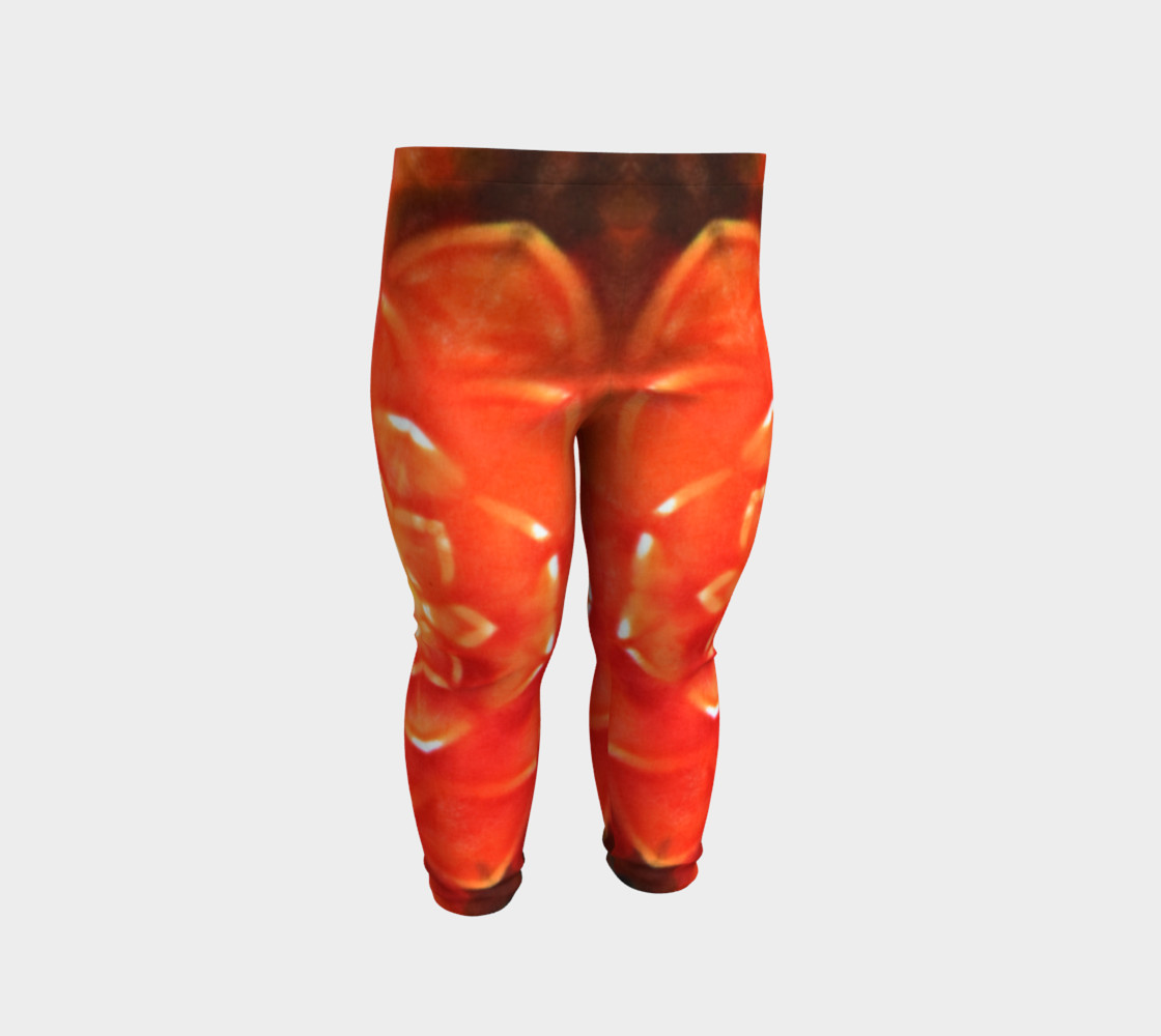 Orange Lotus Baby Leggings preview #2