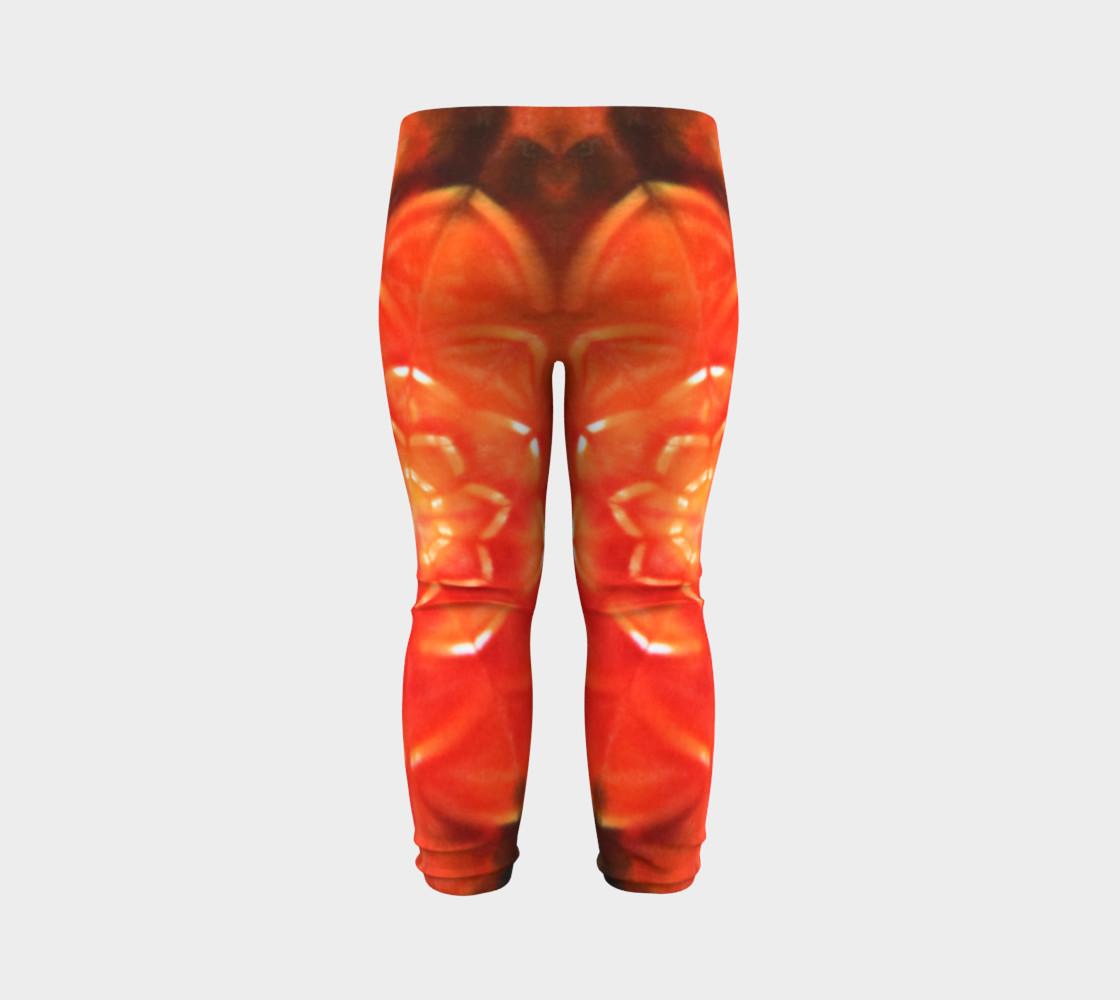 Orange Lotus Baby Leggings preview #7