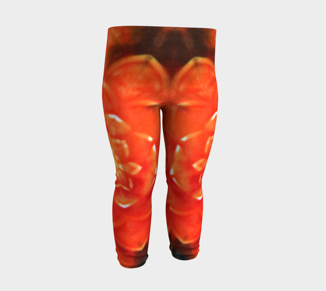 Orange Lotus Baby Leggings preview #3