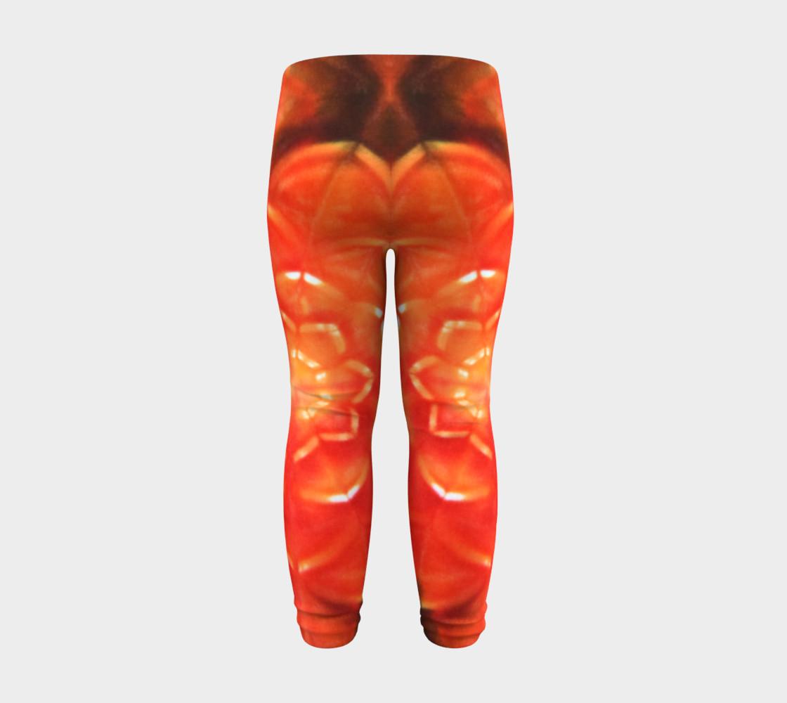 Orange Lotus Baby Leggings preview #8