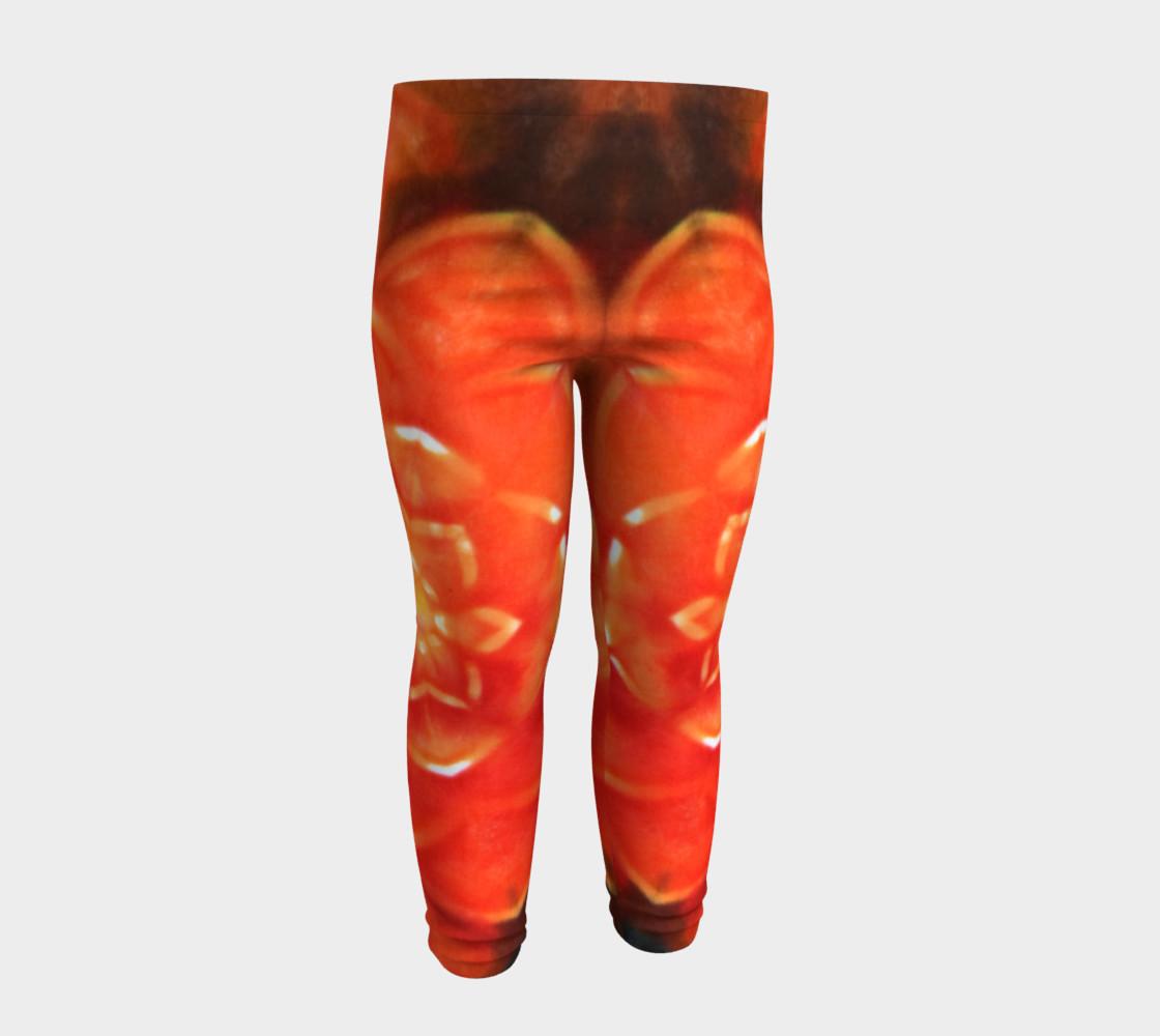Orange Lotus Baby Leggings preview #4