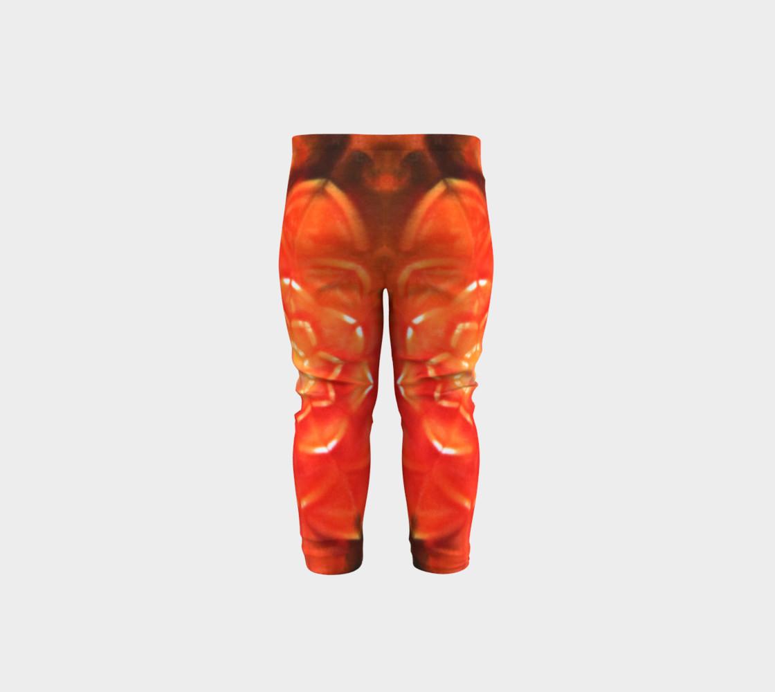 Orange Lotus Baby Leggings preview #5