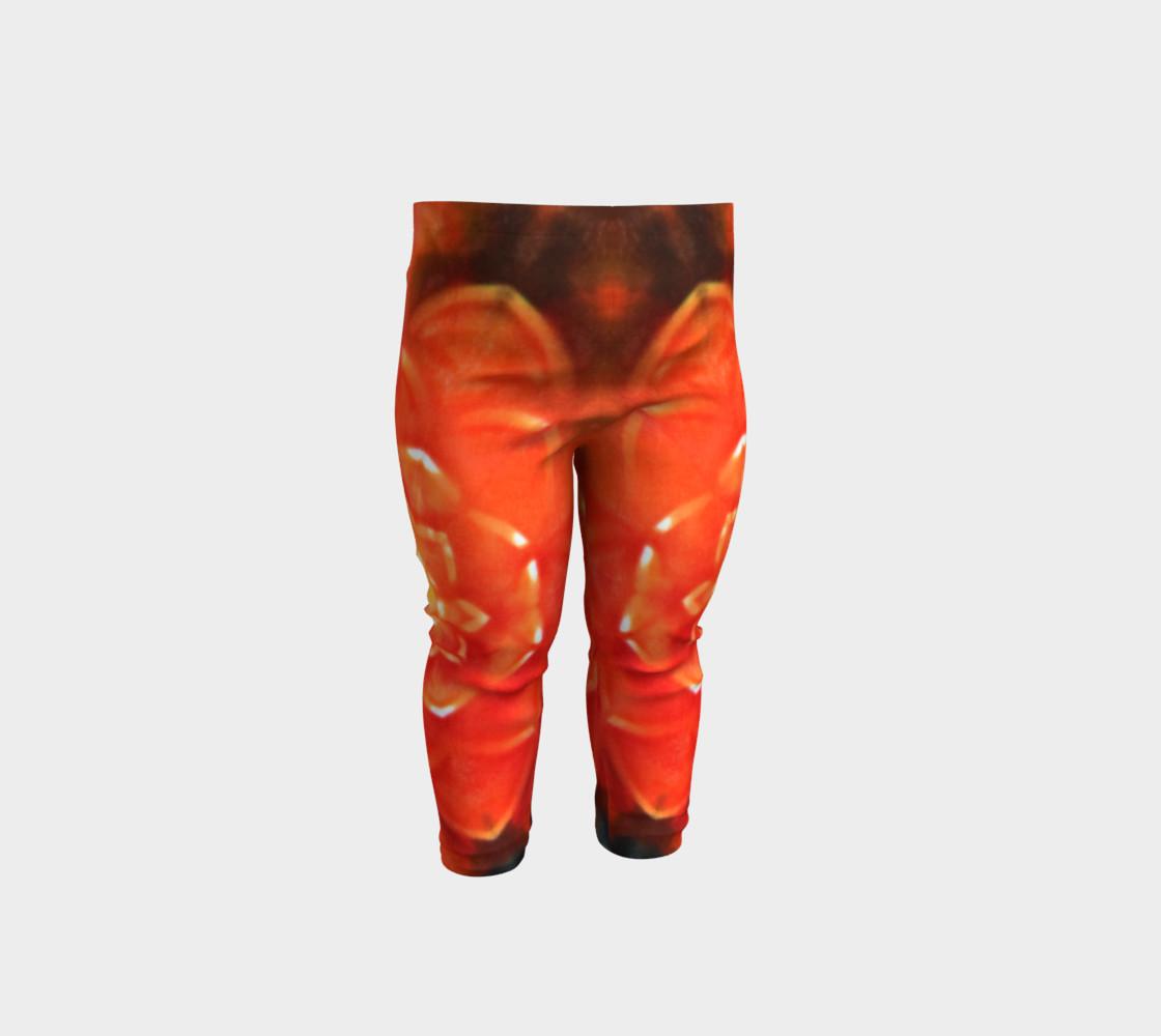 Orange Lotus Baby Leggings preview #1