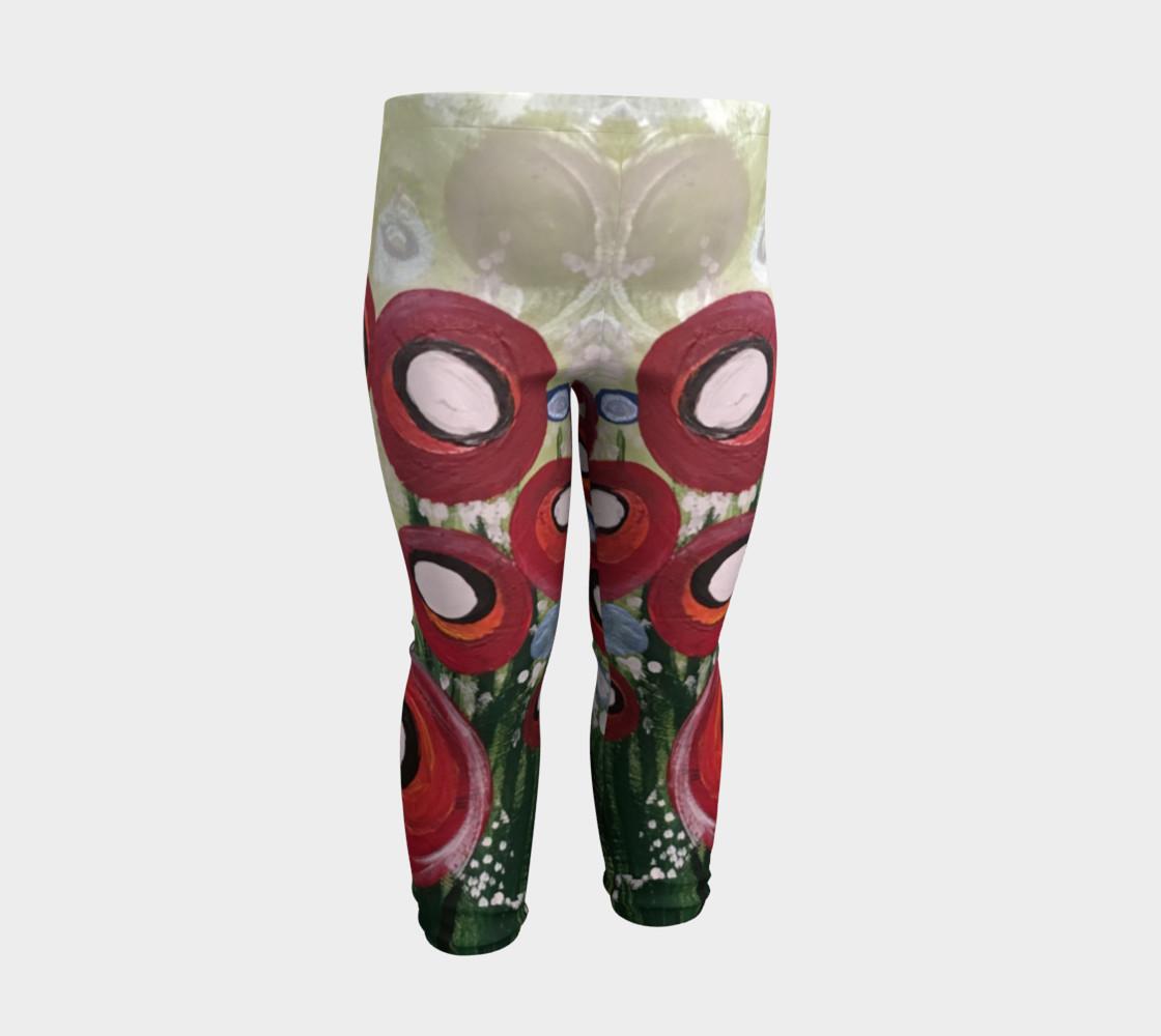 Aperçu de Whimsical Poppy Baby Leggings #3