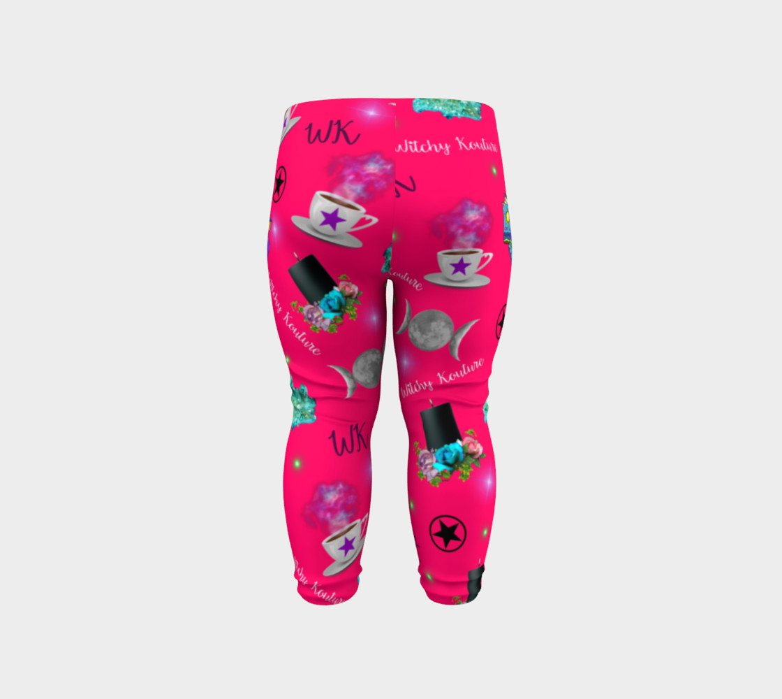 WK #ModernWitchLife Pink Print Baby Leggings preview #6