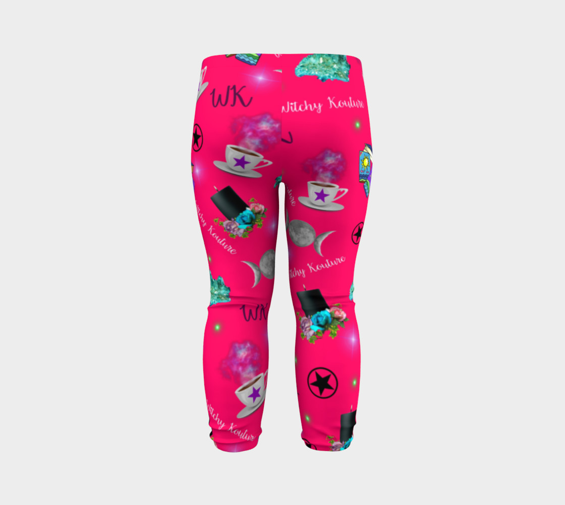 WK #ModernWitchLife Pink Print Baby Leggings preview #7