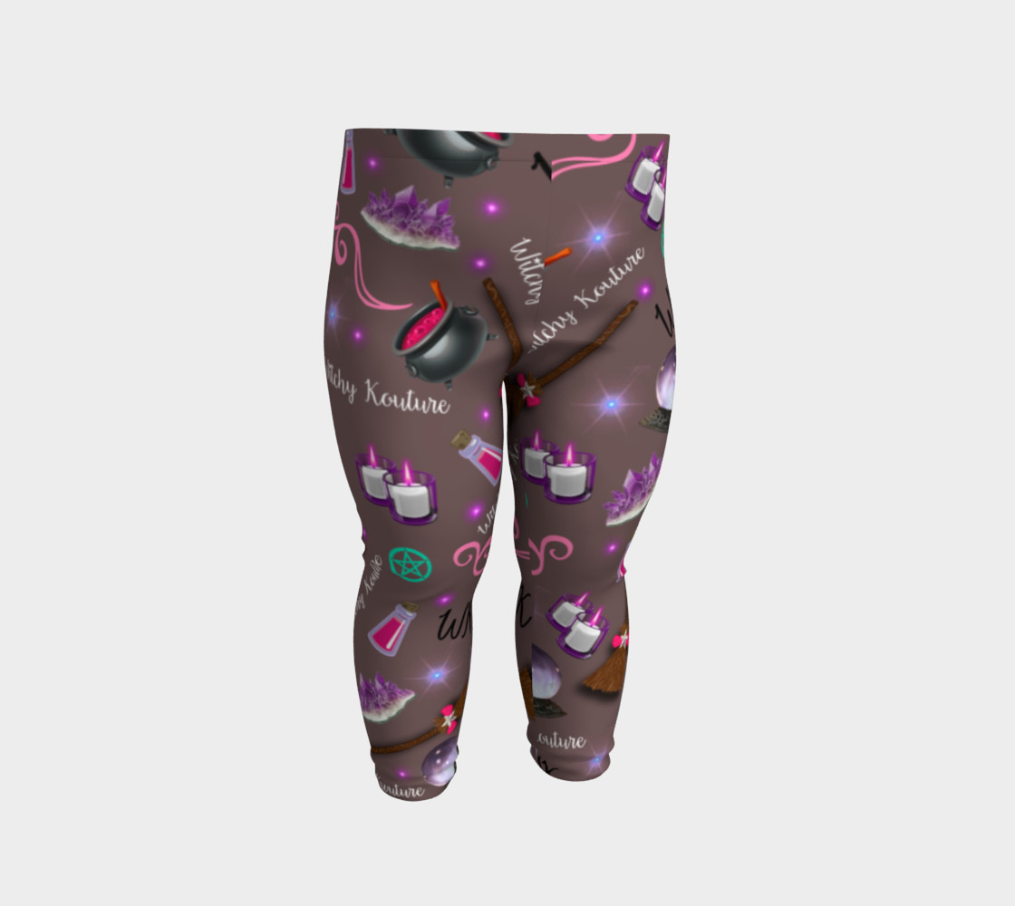 WK #ModernWitchLife Taupe Print Baby Leggings preview #2