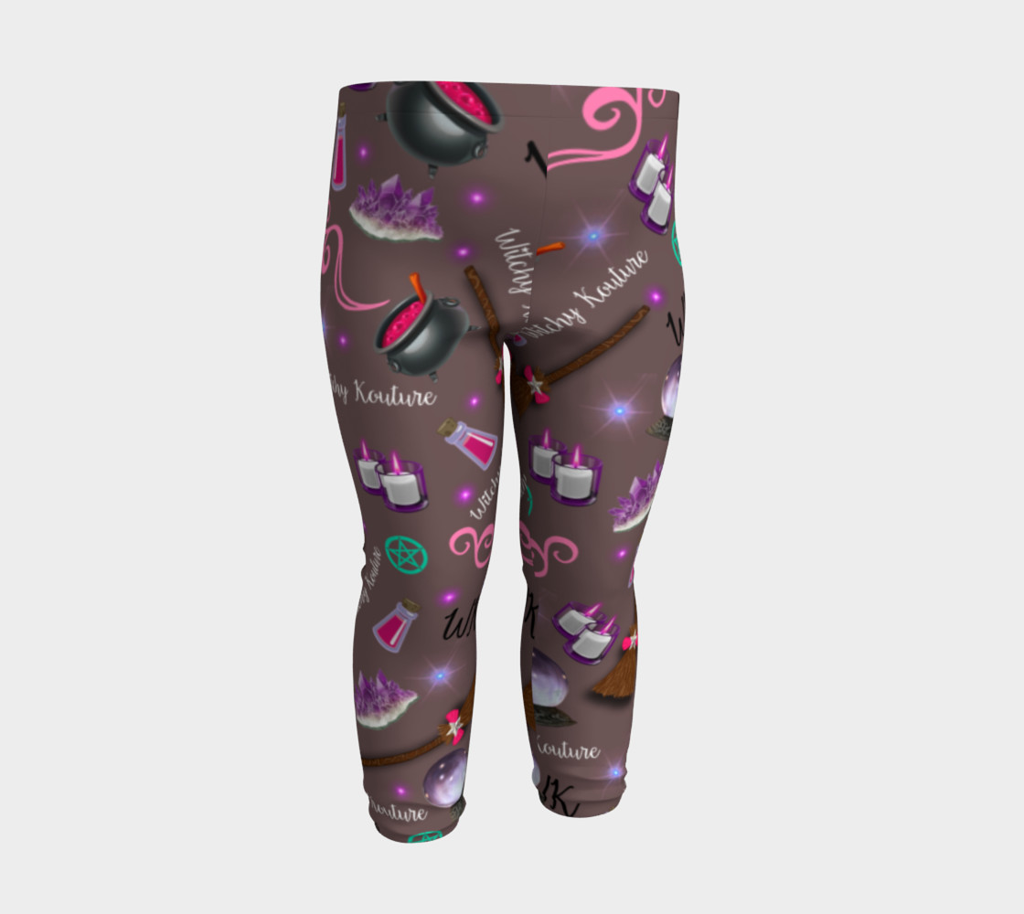 WK #ModernWitchLife Taupe Print Baby Leggings preview #3