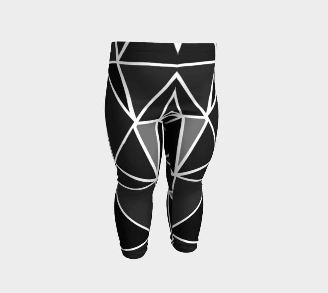 Aperçu de Black Geometric Kids Leggings #2