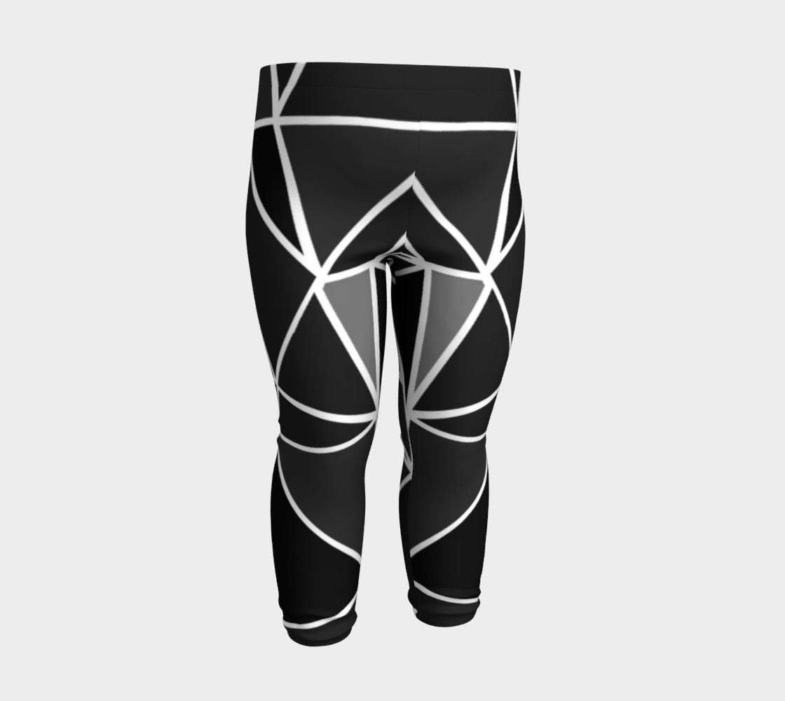 Aperçu de Black Geometric Kids Leggings #3