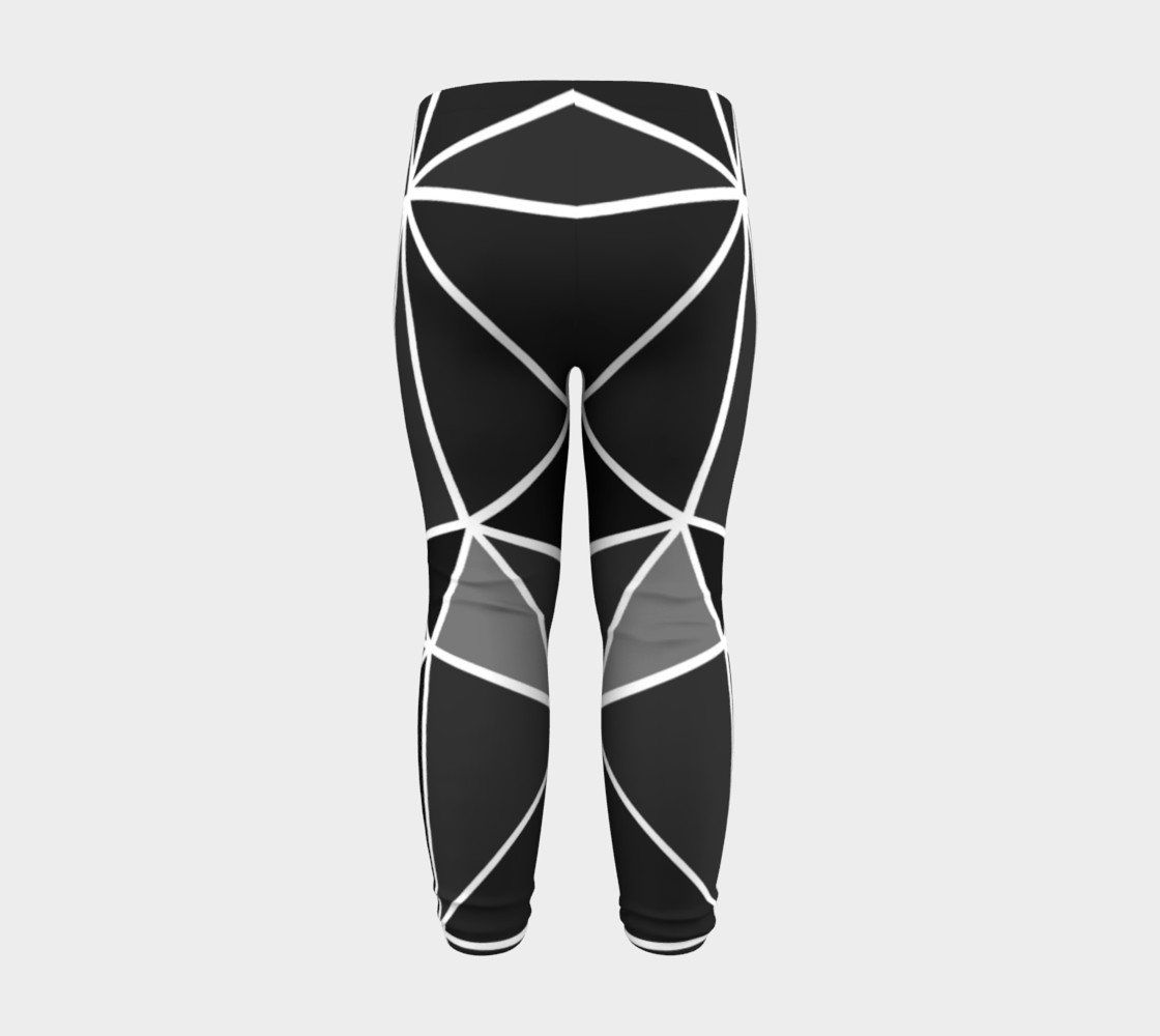 Aperçu de Black Geometric Kids Leggings #8