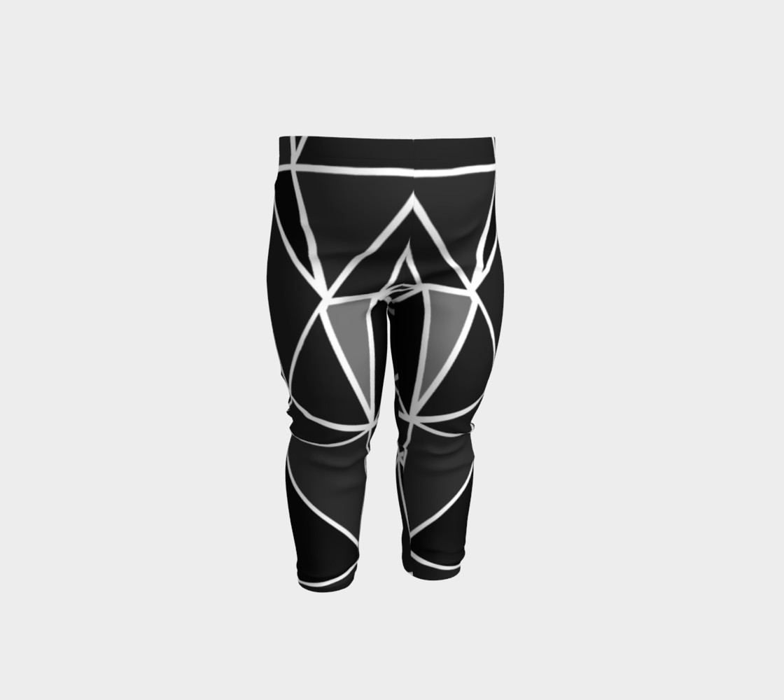 Aperçu de Black Geometric Kids Leggings #1