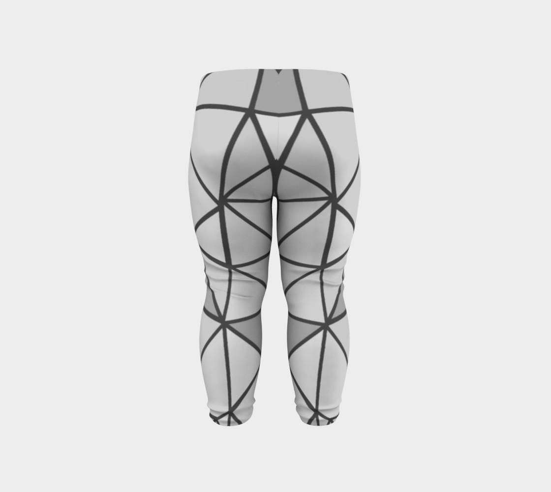 Aperçu de Grey Geometric Kids Leggings #6
