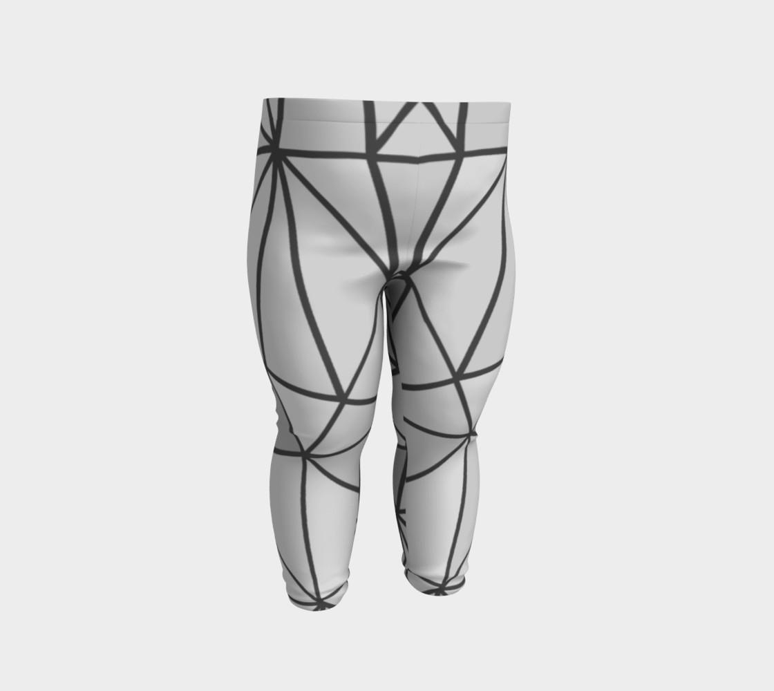 Aperçu de Grey Geometric Kids Leggings #2