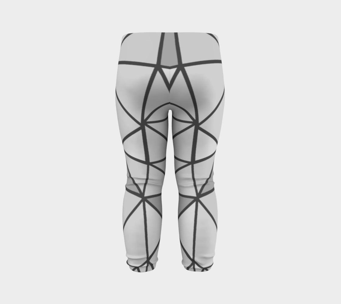Aperçu de Grey Geometric Kids Leggings #7