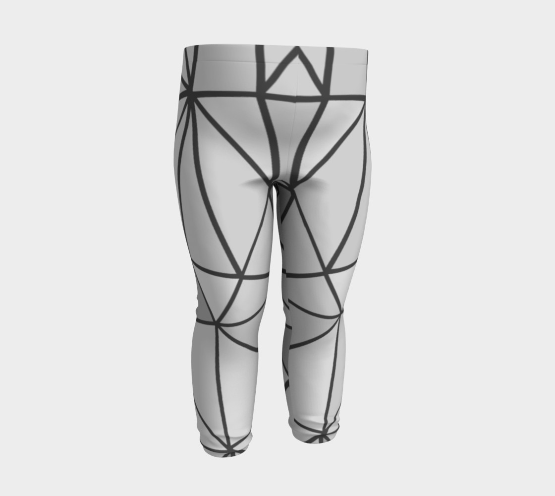 Aperçu de Grey Geometric Kids Leggings #3