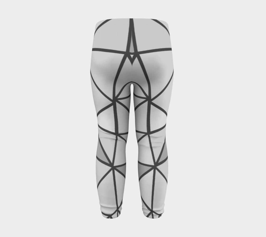 Aperçu de Grey Geometric Kids Leggings #8