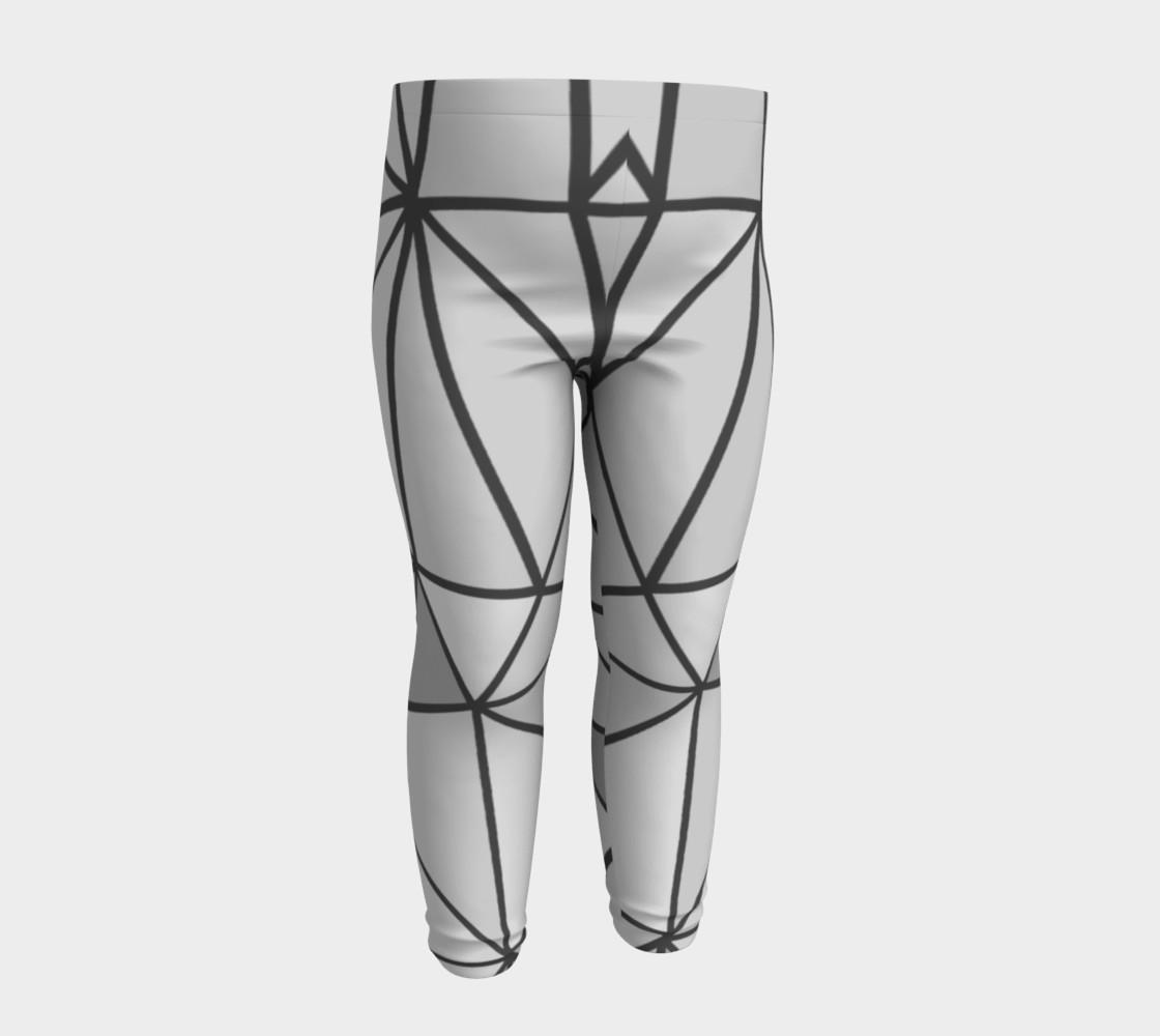 Aperçu de Grey Geometric Kids Leggings #4