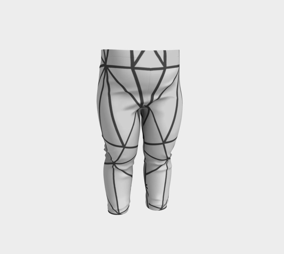 Aperçu de Grey Geometric Kids Leggings #1