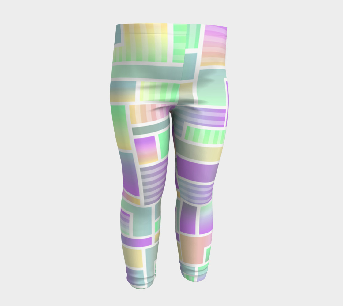 Cute Children's Geometric Pattern Leggings. preview #4