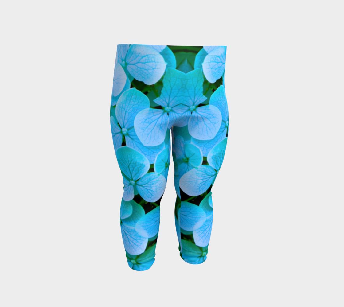 baby blue flower leggings preview #2
