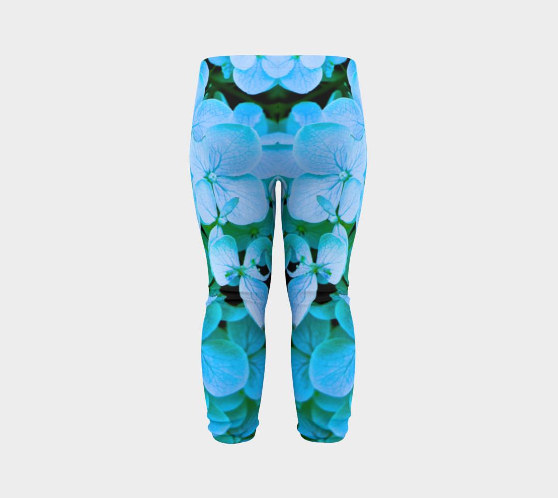 baby blue flower leggings preview #7