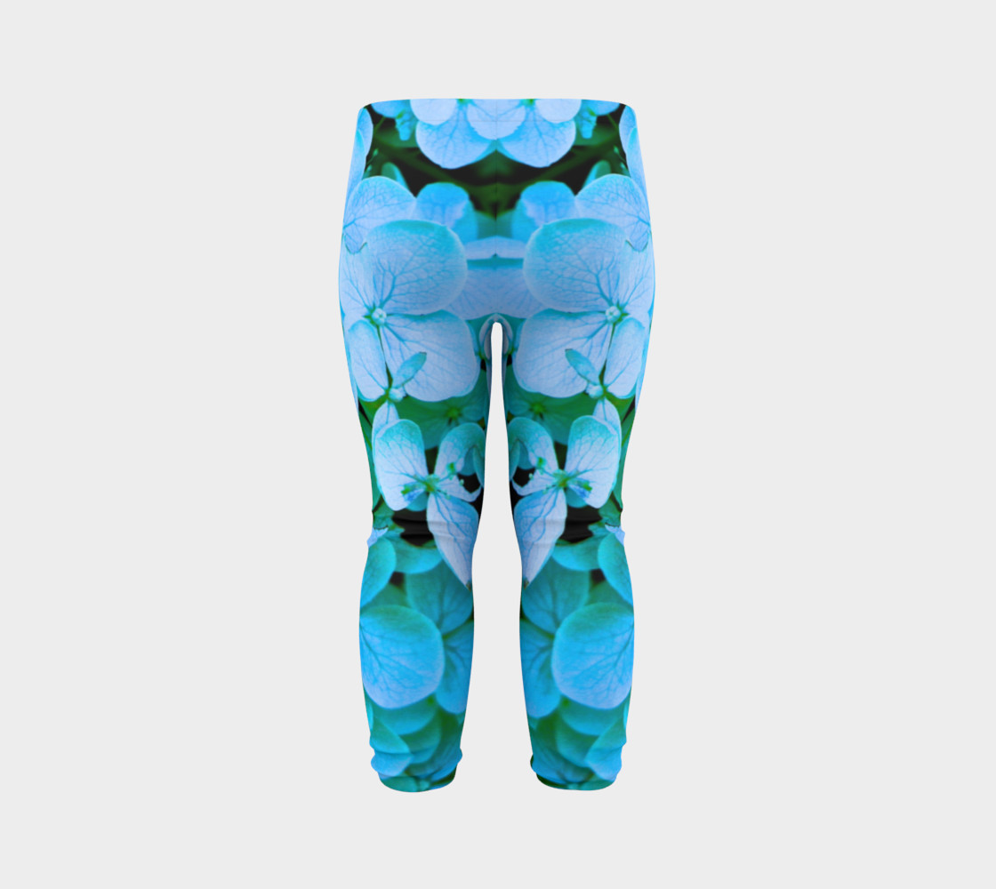 Aperçu de baby blue flower leggings #7