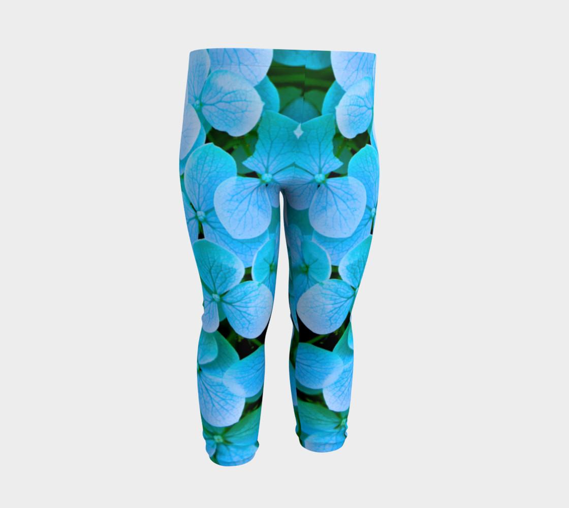 baby blue flower leggings preview #3