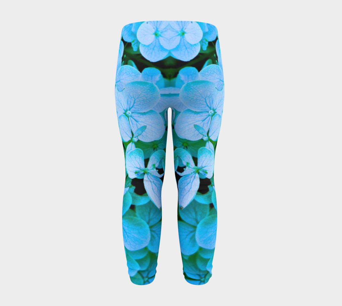 baby blue flower leggings preview #8