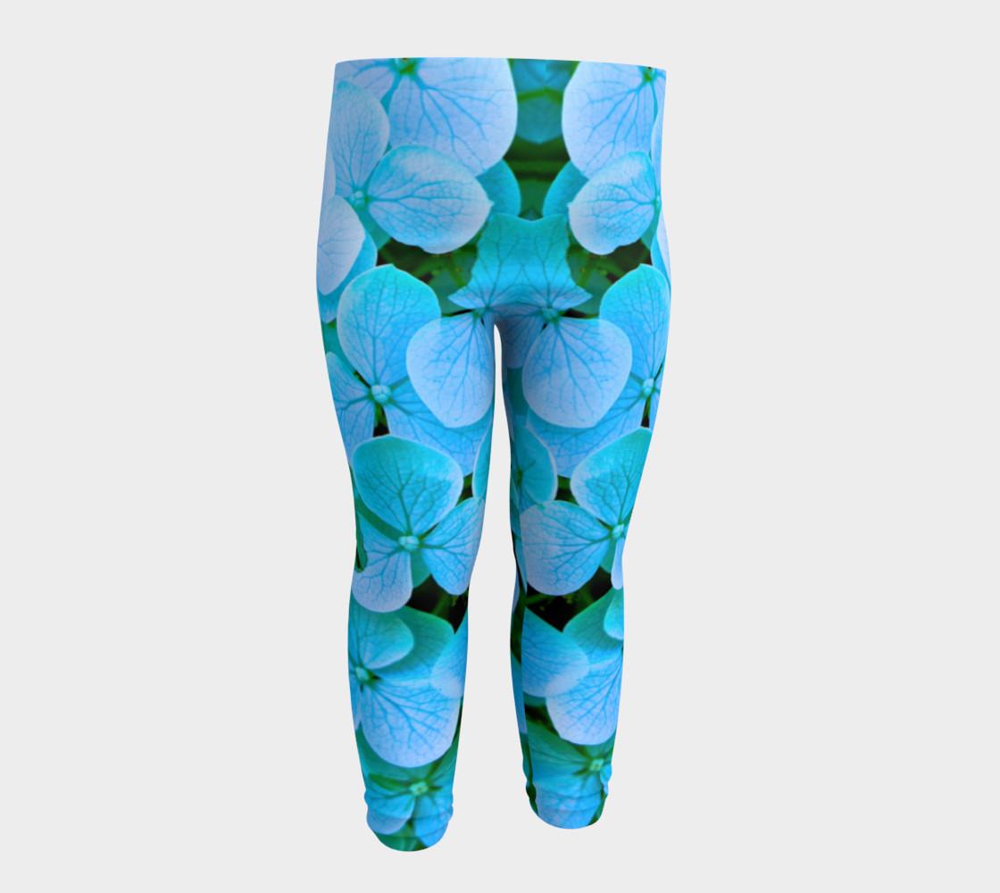 baby blue flower leggings preview #4