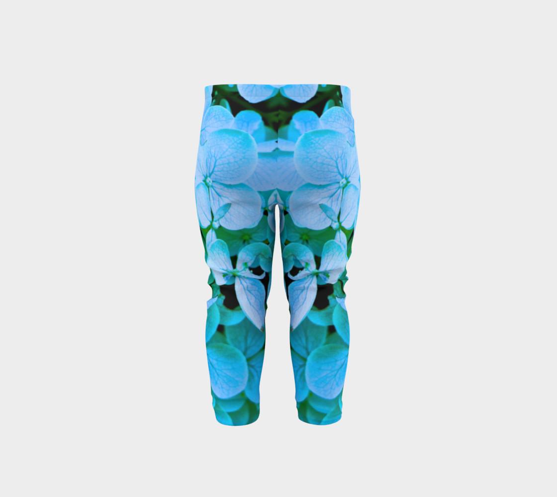 baby blue flower leggings preview #5