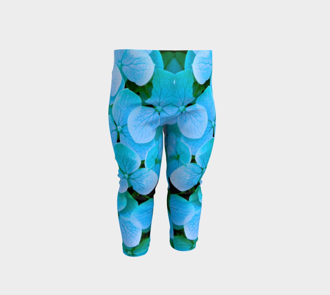 baby blue flower leggings preview #1