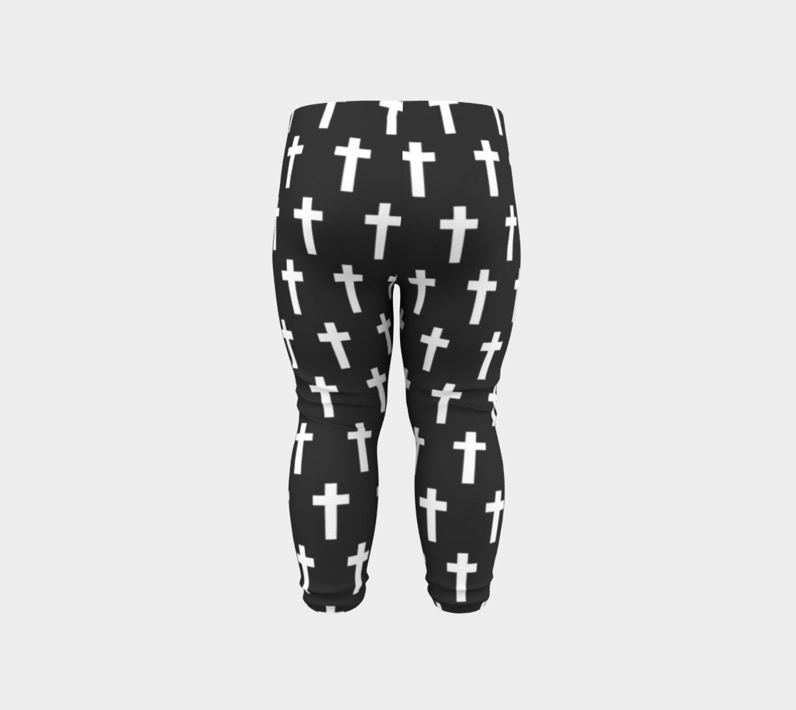 Black Cross baby leggings preview #6