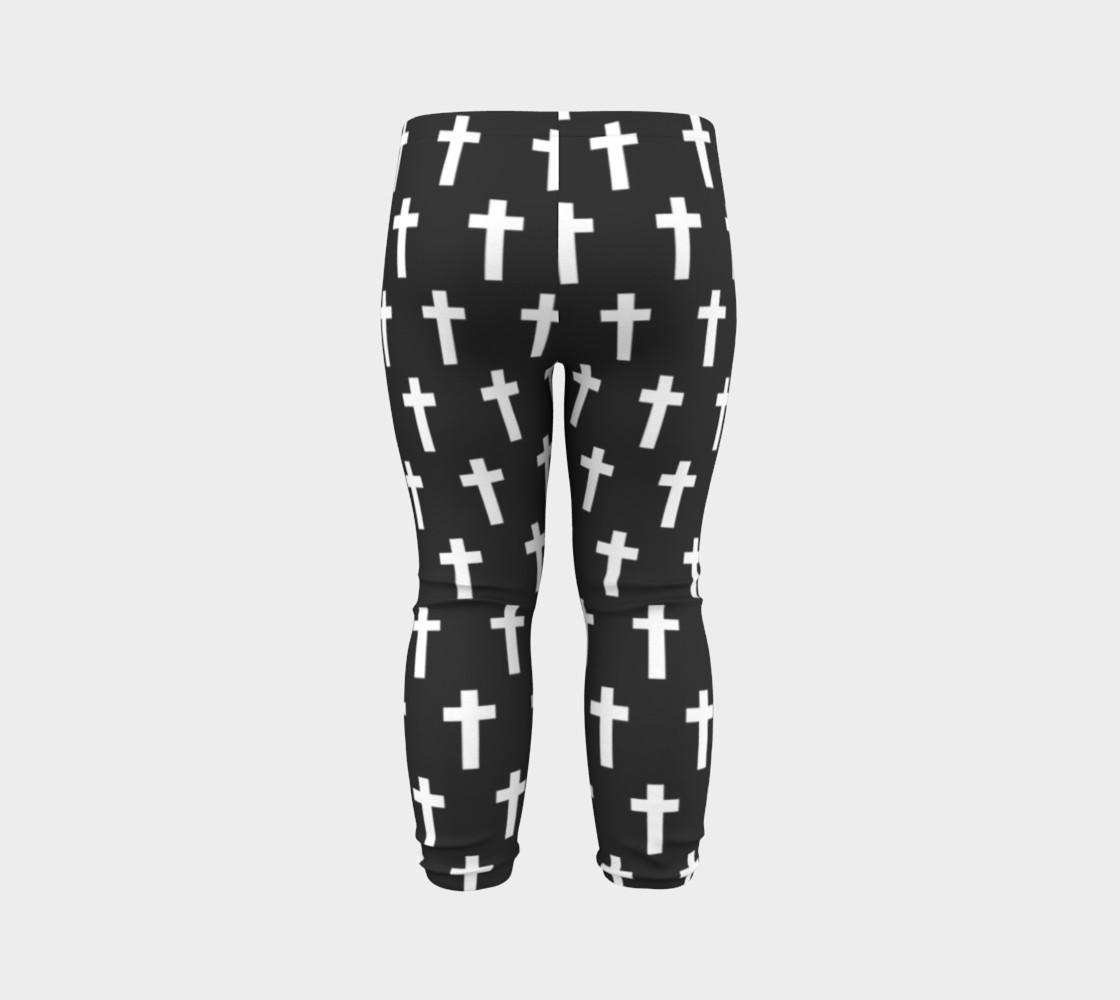 Black Cross baby leggings preview #7