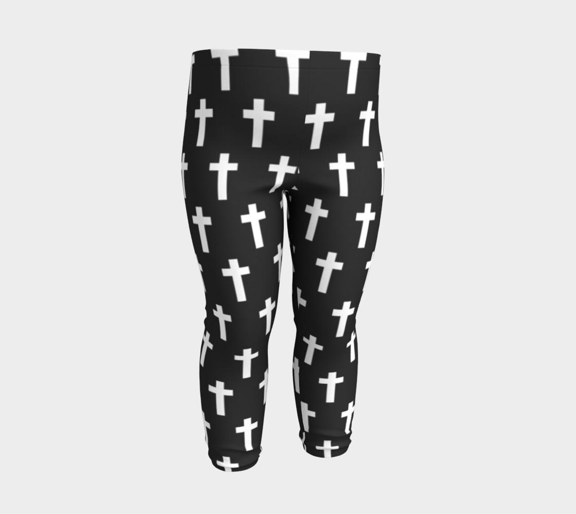 Black Cross baby leggings preview #3