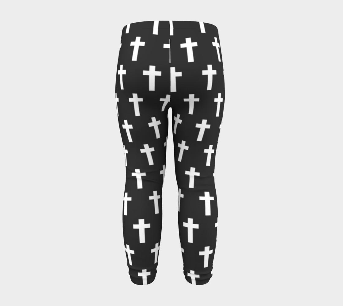 Black Cross baby leggings preview #8