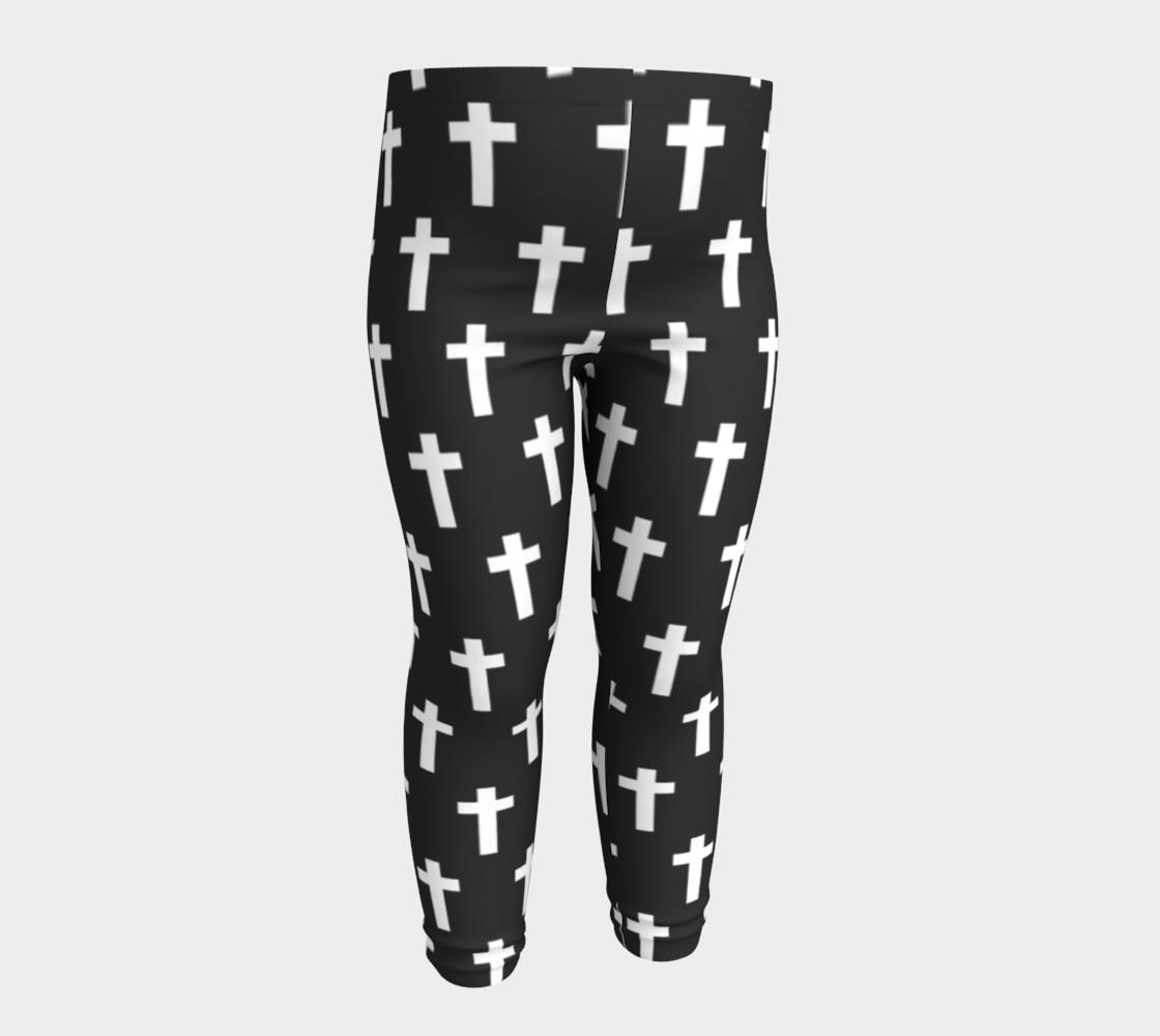 Black Cross baby leggings preview #4