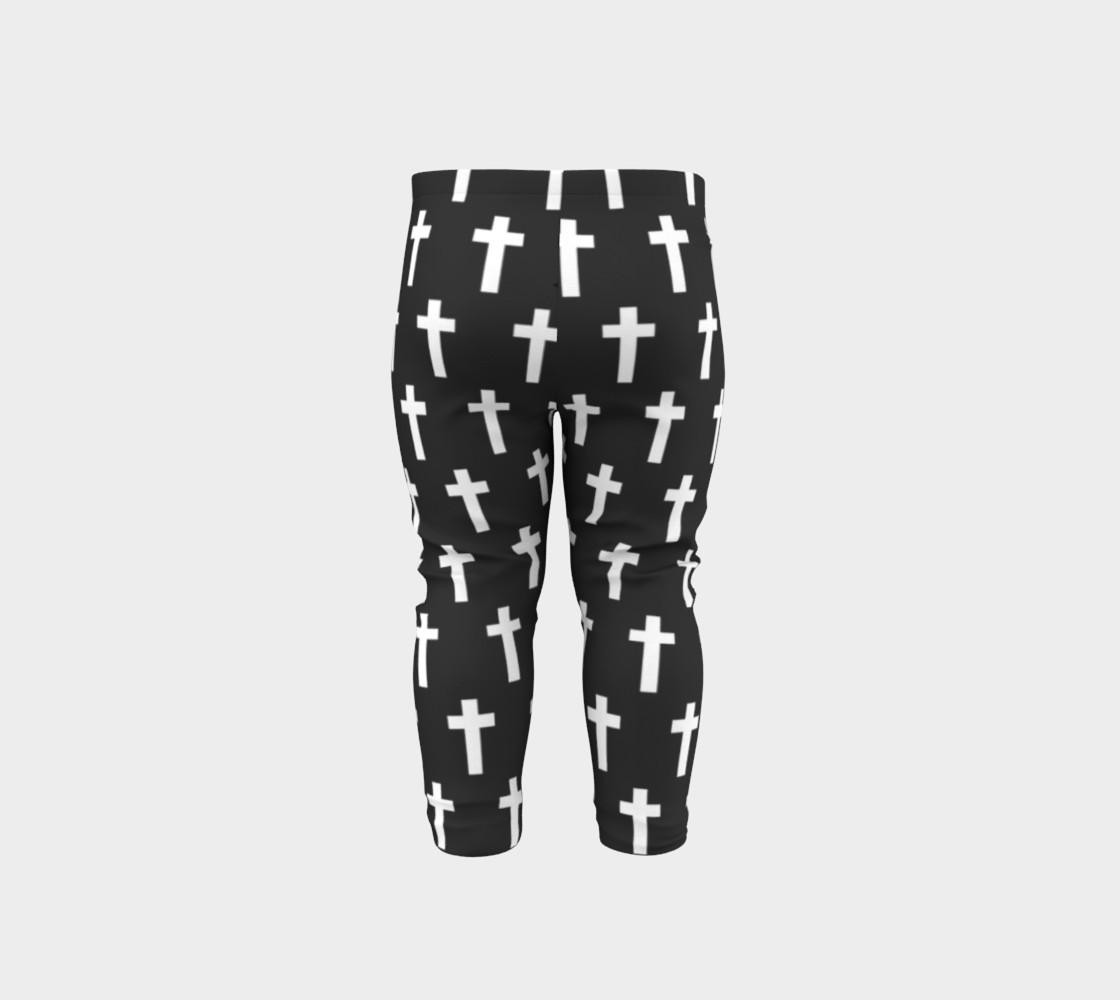 Black Cross baby leggings preview #5