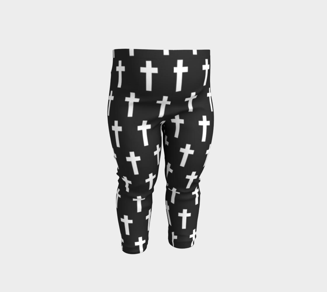Black Cross baby leggings preview #1