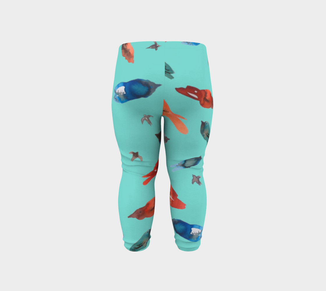 Baby legging Fish-Birds on Turquoise preview #6