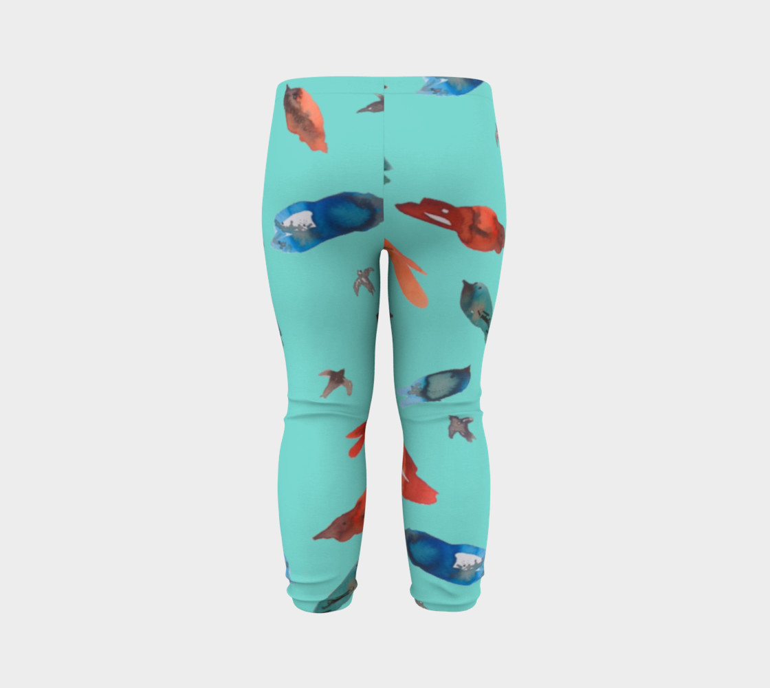 Baby legging Fish-Birds on Turquoise preview #7