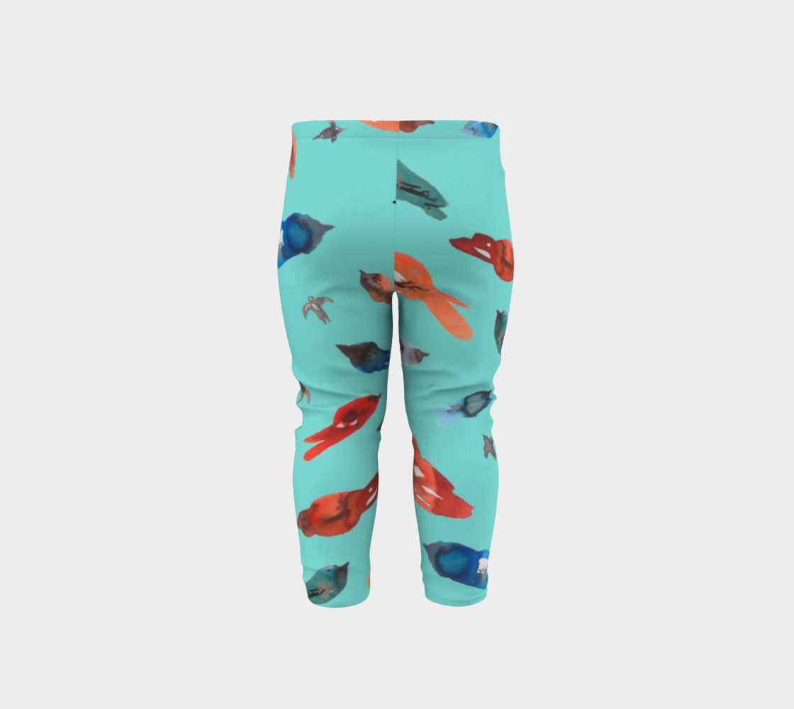 Baby legging Fish-Birds on Turquoise preview #5