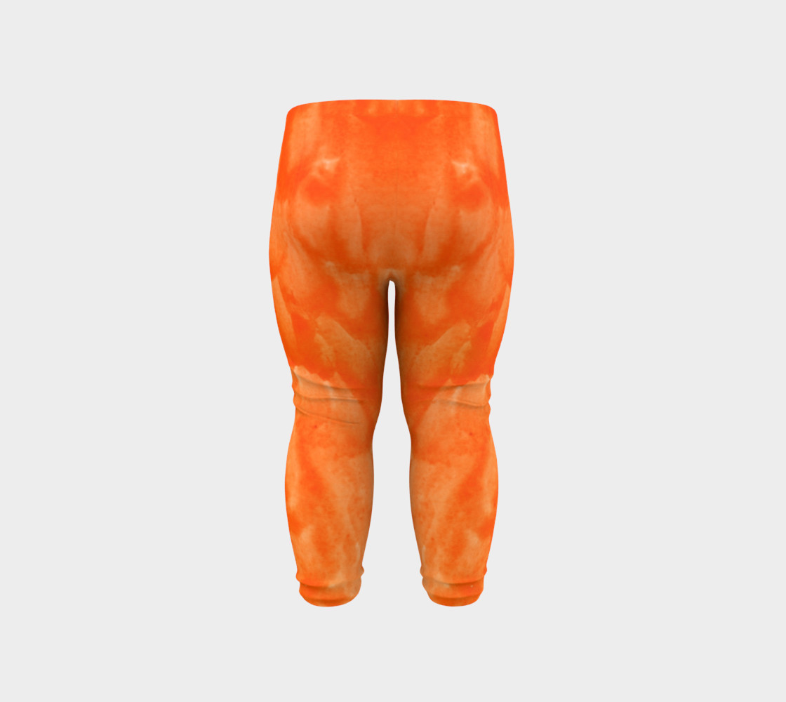 Orange Explosion Baby Leggings preview #6