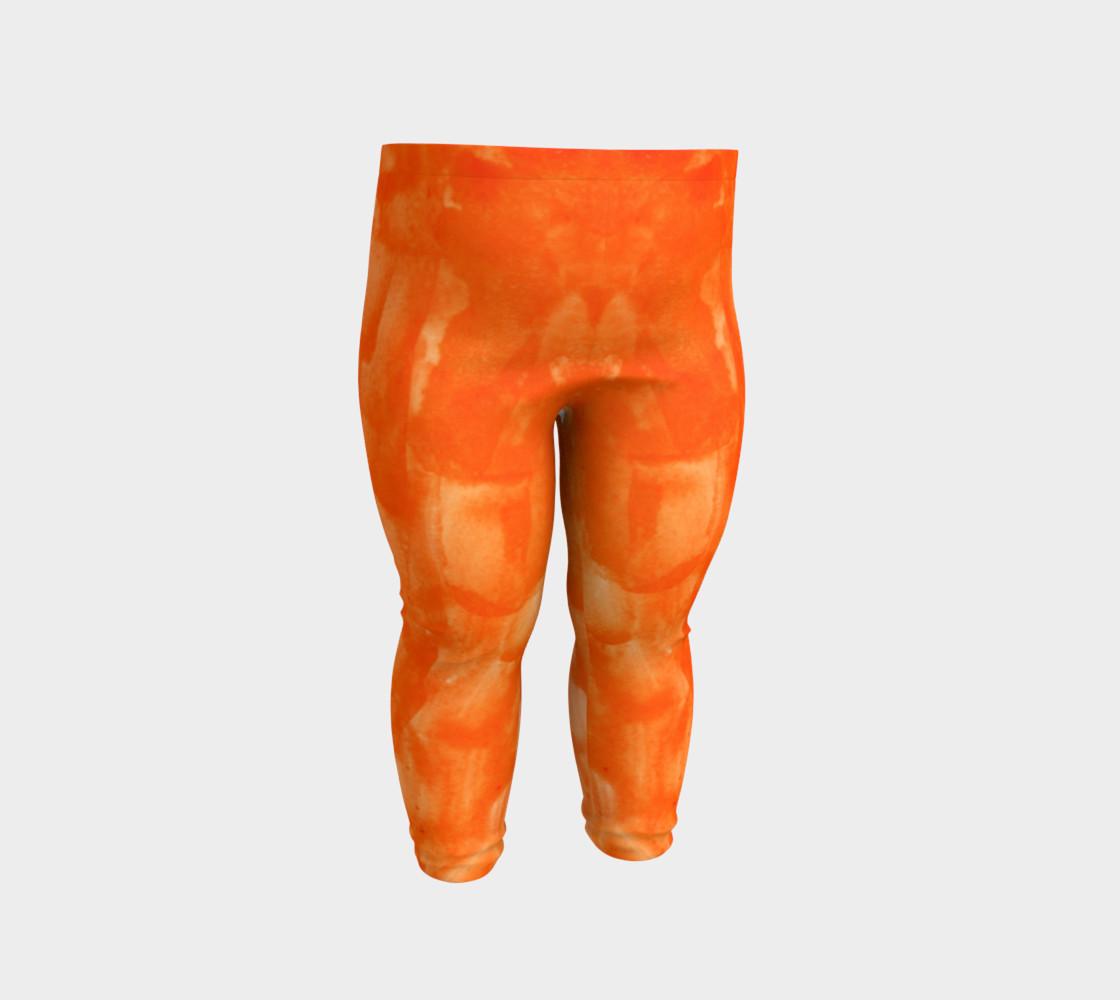 Orange Explosion Baby Leggings preview #2