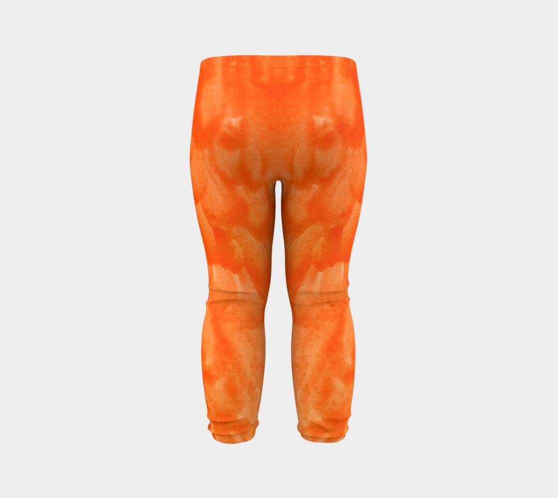 Orange Explosion Baby Leggings preview #7